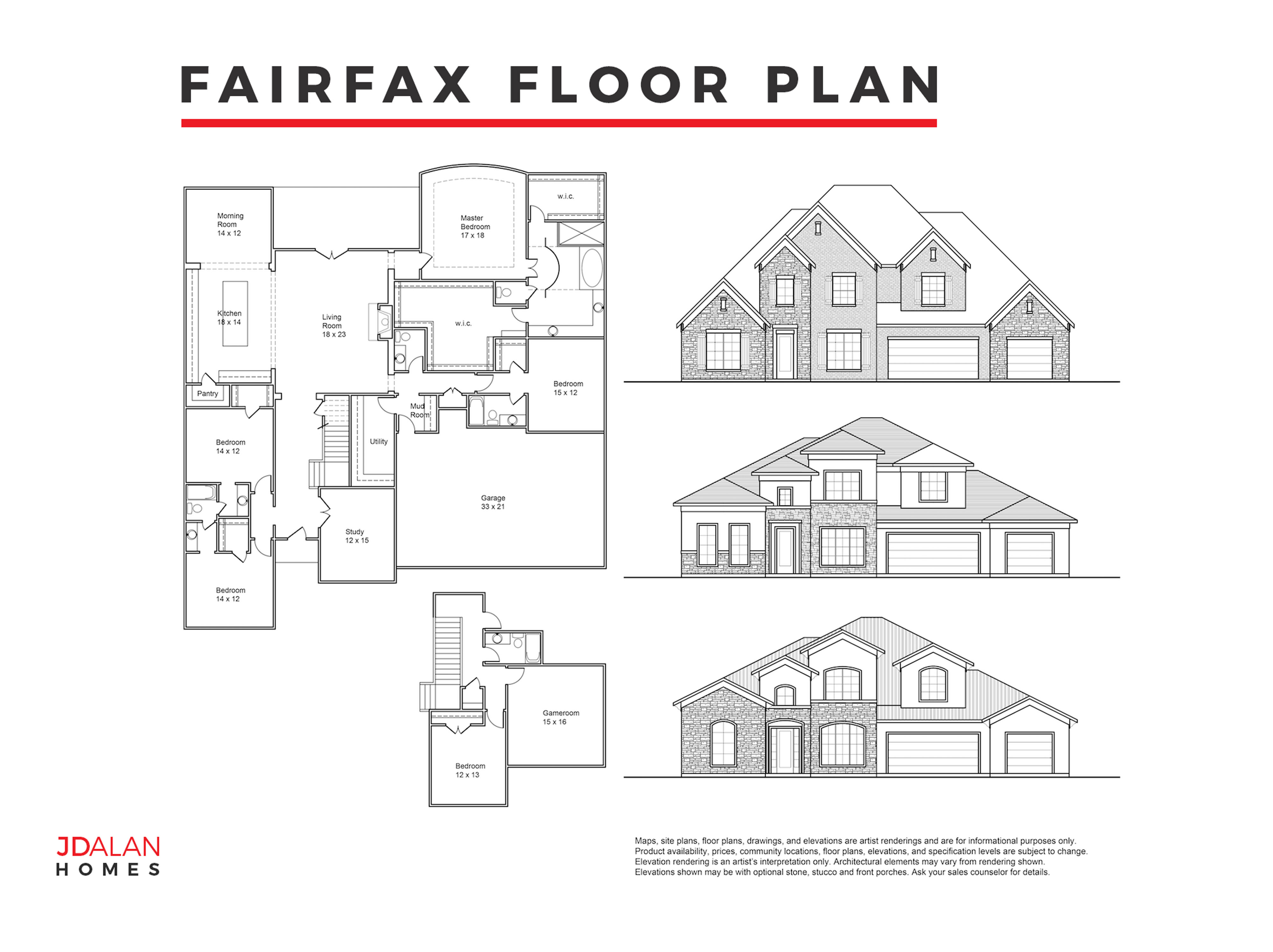 FAIRFAX FLOOR PLAN #4103